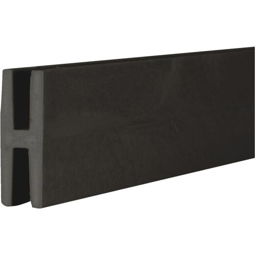 Dimensions 1-31/32 In W x 97 In L x 3/4 In D Black Vinyl Panel H-Divider