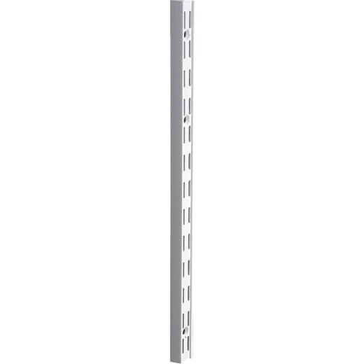 Knape & Vogt 82 Series 63 In. White Steel Heavy-Duty Double-Slot Shelf Standard