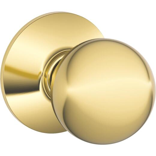Schlage Orbit Bright Brass Hall & Closet Door Knob