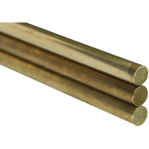 K&S 1/8 In. x 36 In. Solid Brass Rod