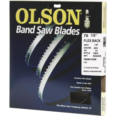 Olson 70-1/2 In. x 1/8 In. 14 TPI Regular Flex Back Band Saw Blade