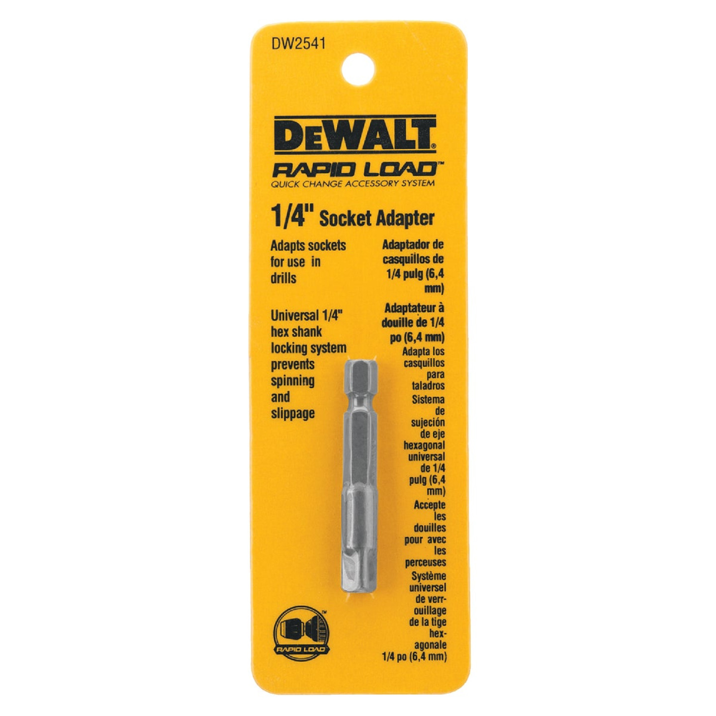 DeWalt 1/4 In. Square 2 In. L. Socket Adapter Image 2