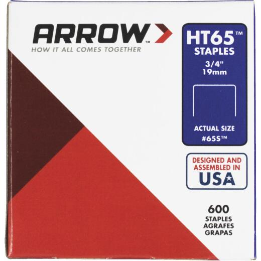 Arrow HT65 Hammer Tacker Staple, 3/4 In. (600-Pack)
