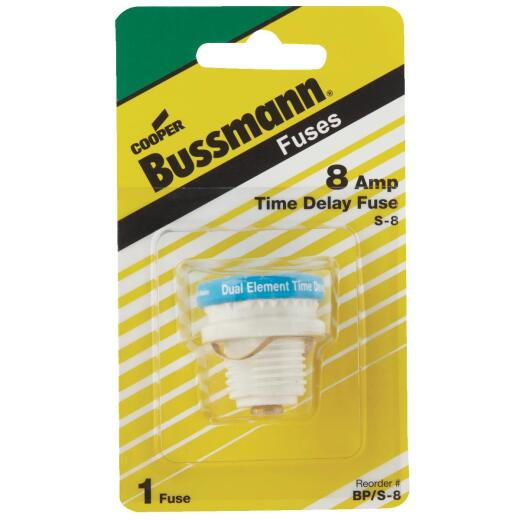 Bussmann 8A BP/S Time-Delay Plug Fuse