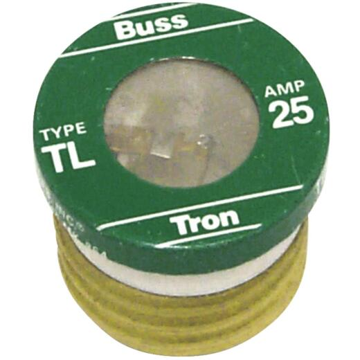 Bussmann 25A TL Time-Delay Plug Fuse (4-Pack)