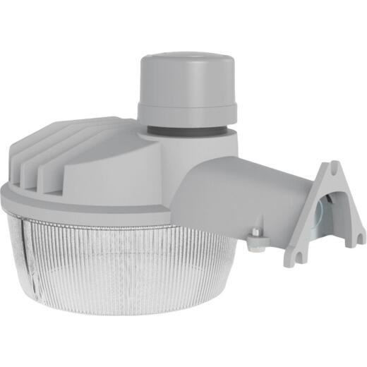 Halo Gray Dusk To Dawn Standard LED Outdoor Area Light Fixture, 7000 Lm.