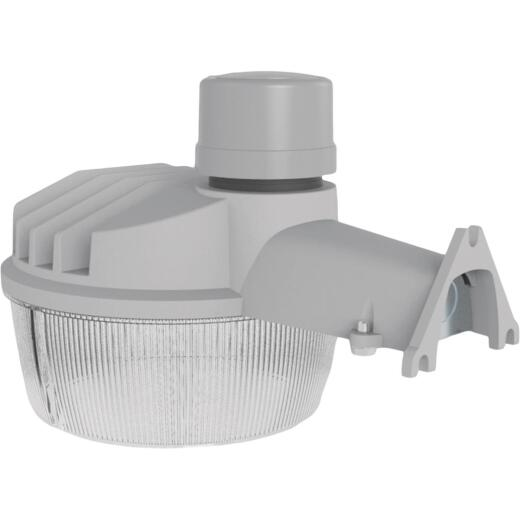 Halo Gray Dusk To Dawn Standard LED Outdoor Area Light Fixture, 10,000 Lm.