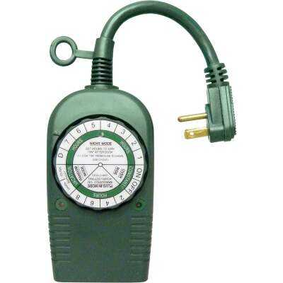 Do it 12.5A 120V 1500W Green Outdoor Timer
