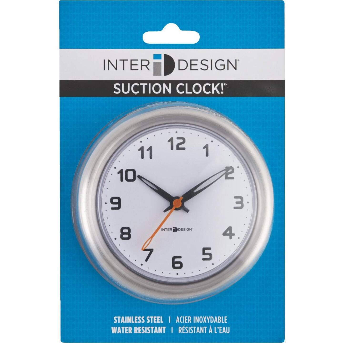InterDesign Forma Suction Shower Wall Clock Image 2