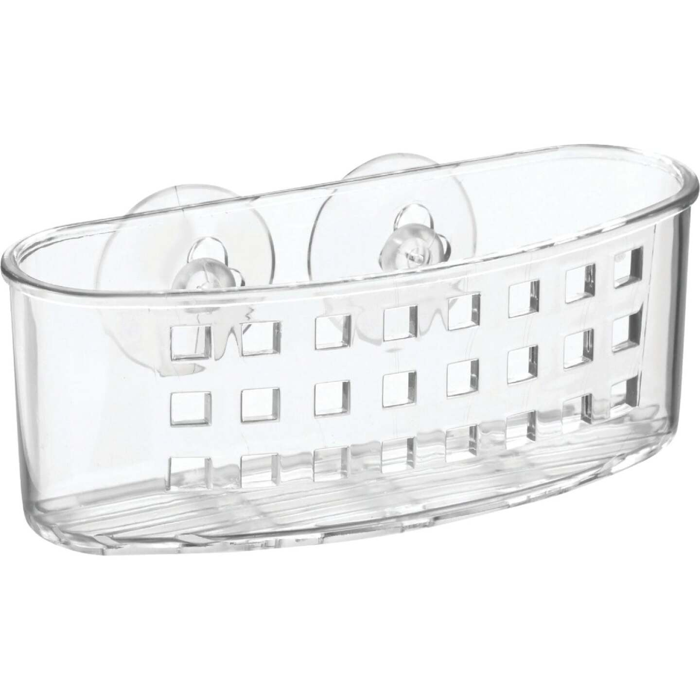InterDesign Sinkworks Clear Suction Scrubber & Sponge Holder Image 1