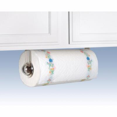 Spectrum Clear Plastic Wall or Cabinet Paper Towel Holder
