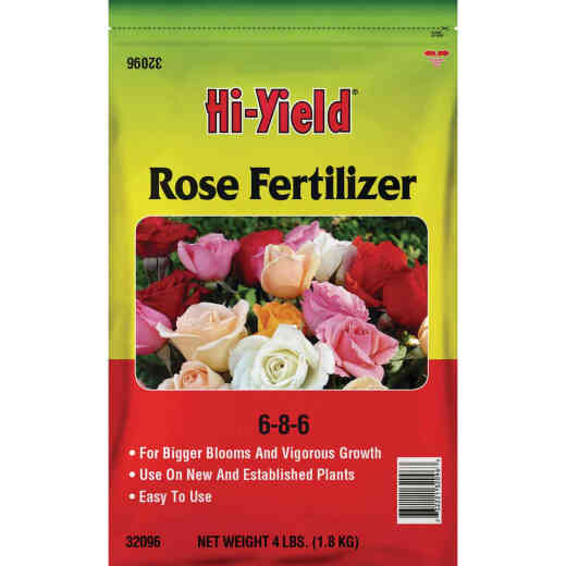 Hi-Yield 4 Lb. 6-8-6 Dry Plant Food Rose Fertilizer