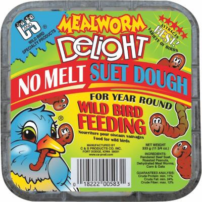 C&S 11.75 Oz. Mealworm Delight Suet Dough