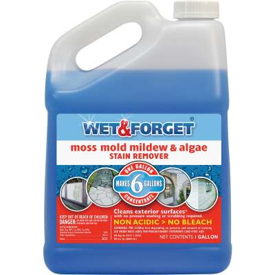 Wet & Forget 1 Gal. Liquid Concentrate Moss, Mildew, Algae, & Mold Stain Remover
