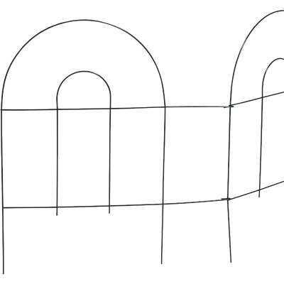 Best Garden 8 Ft. Powder-Coated Green Wire Folding Fence