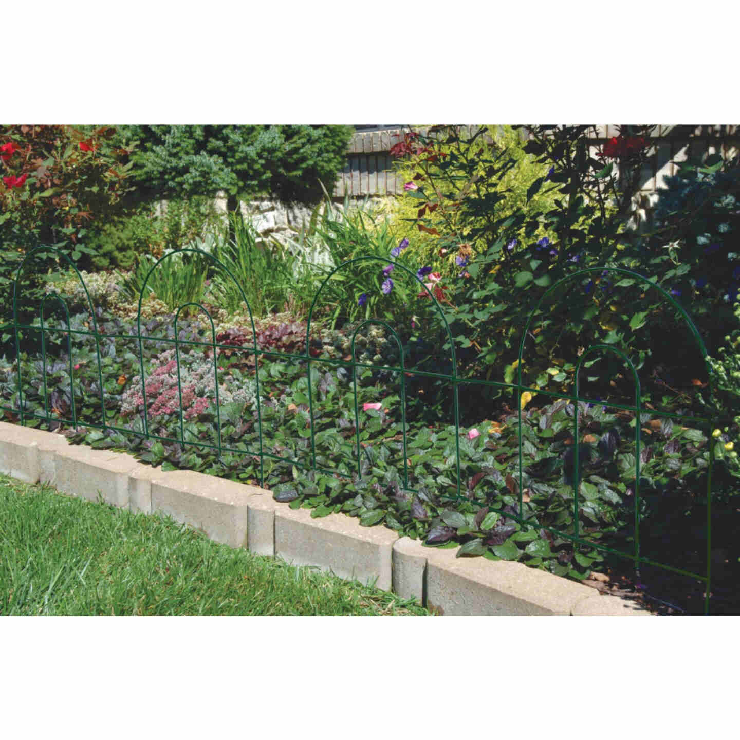 Best Garden 8 Ft. Powder-Coated Green Wire Folding Fence Image 2