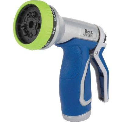 Best Garden Metal 9-Pattern Nozzle, Blue & Gray