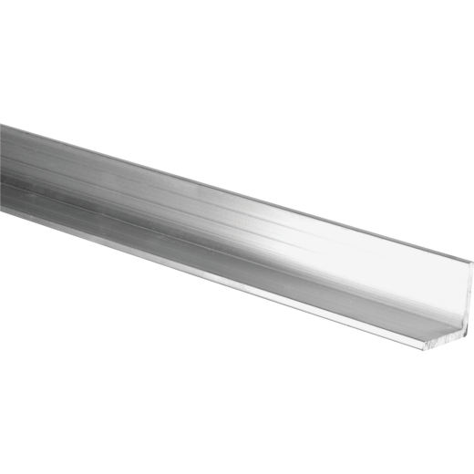 HILLMAN Steelworks Mill 3/4 In. x 4 Ft., 1/8 In. Aluminum Solid Angle