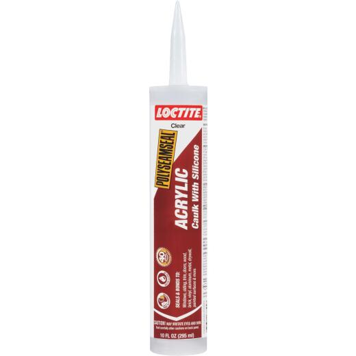 LOCTITE POLYSEAMSEAL 10 Oz. Clear Acrylic Caulk with Silicone