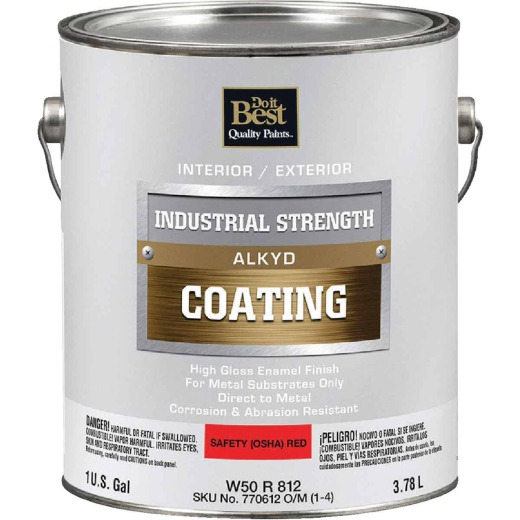Do it Best Alkyd Industrial Coating, Osha Red, 1 Gal.
