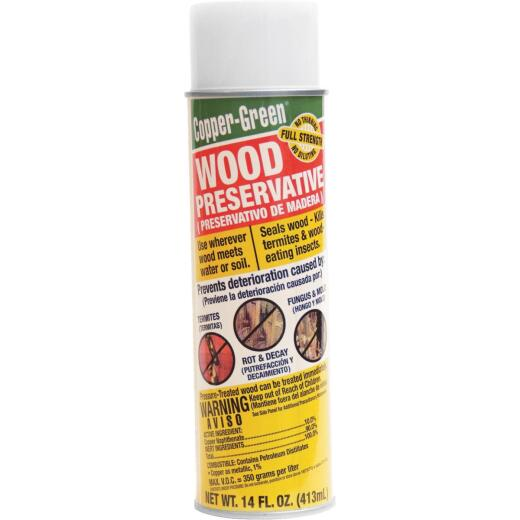 Copper-Green Exterior Wood Preservative, Green, 14 Oz.