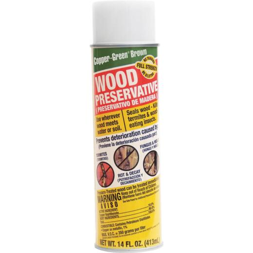 Copper-Green Exterior Wood Preservative, Brown,14 Oz.