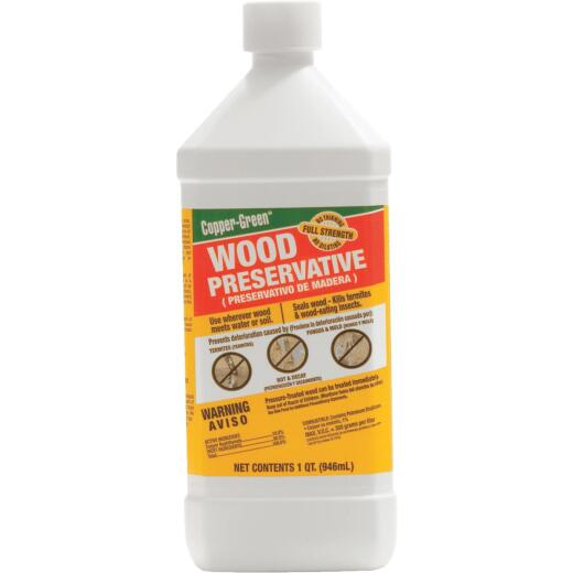 Copper-Green Exterior Wood Preservative, 1 Qt., Green