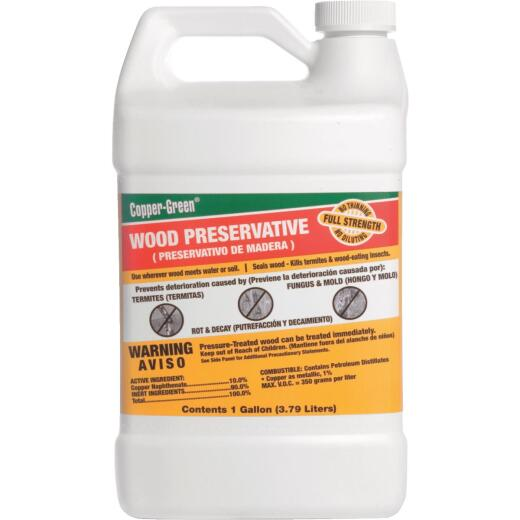 Copper-Green Exterior Wood Preservative, 1 Gal., Green