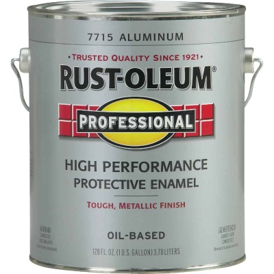 Rust-Oleum Professional Oil Based Gloss Protective Rust Control Enamel, Aluminum, 1 Gal.