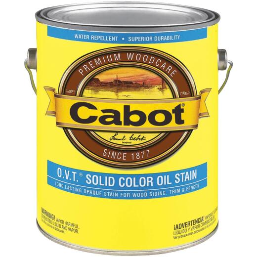 Cabot VOC Compliant O.V.T. Solid Color Exterior Stain, Deep Base, 1 Gal.