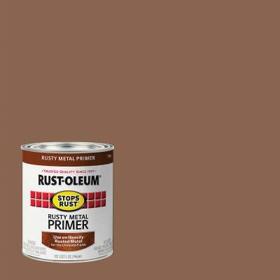 Rust-Oleum Stops Rust Rusty Metal Primer, Red/Brown, 1 Qt.