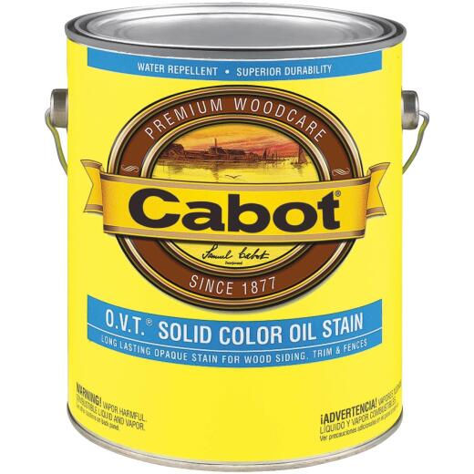 Cabot VOC Compliant O.V.T. Solid Color Exterior Stain, Medium Base, 1 Gal.