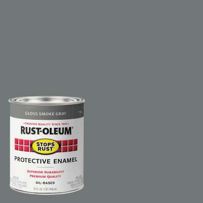 Rust-Oleum Stops Rust Oil Based Gloss Protective Rust Control Enamel, Smoke Gray, 1 Qt.