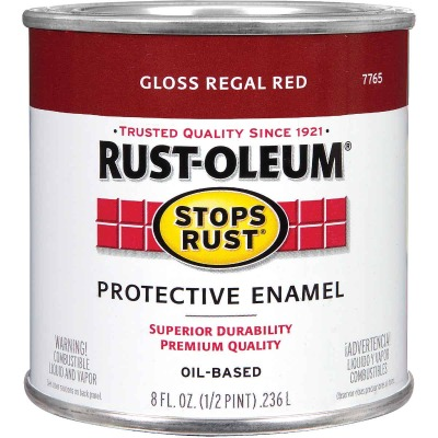 Rust-Oleum Stops Rust Oil Based Gloss Protective Rust Control Enamel, Regal Red, 1/2 Pt.