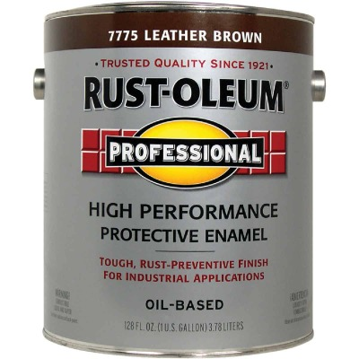 Rust-Oleum VOC for SCAQMD Professional Enamel, Leather Brown, 1 Gal.