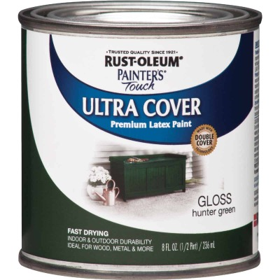 Rust-Oleum Painter's Touch 2X Ultra Cover Premium Latex Paint, Hunter Green, 1/2 Pt.