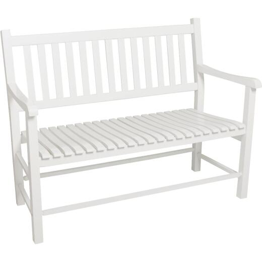 Jack Post Knollwood White Wood Bench