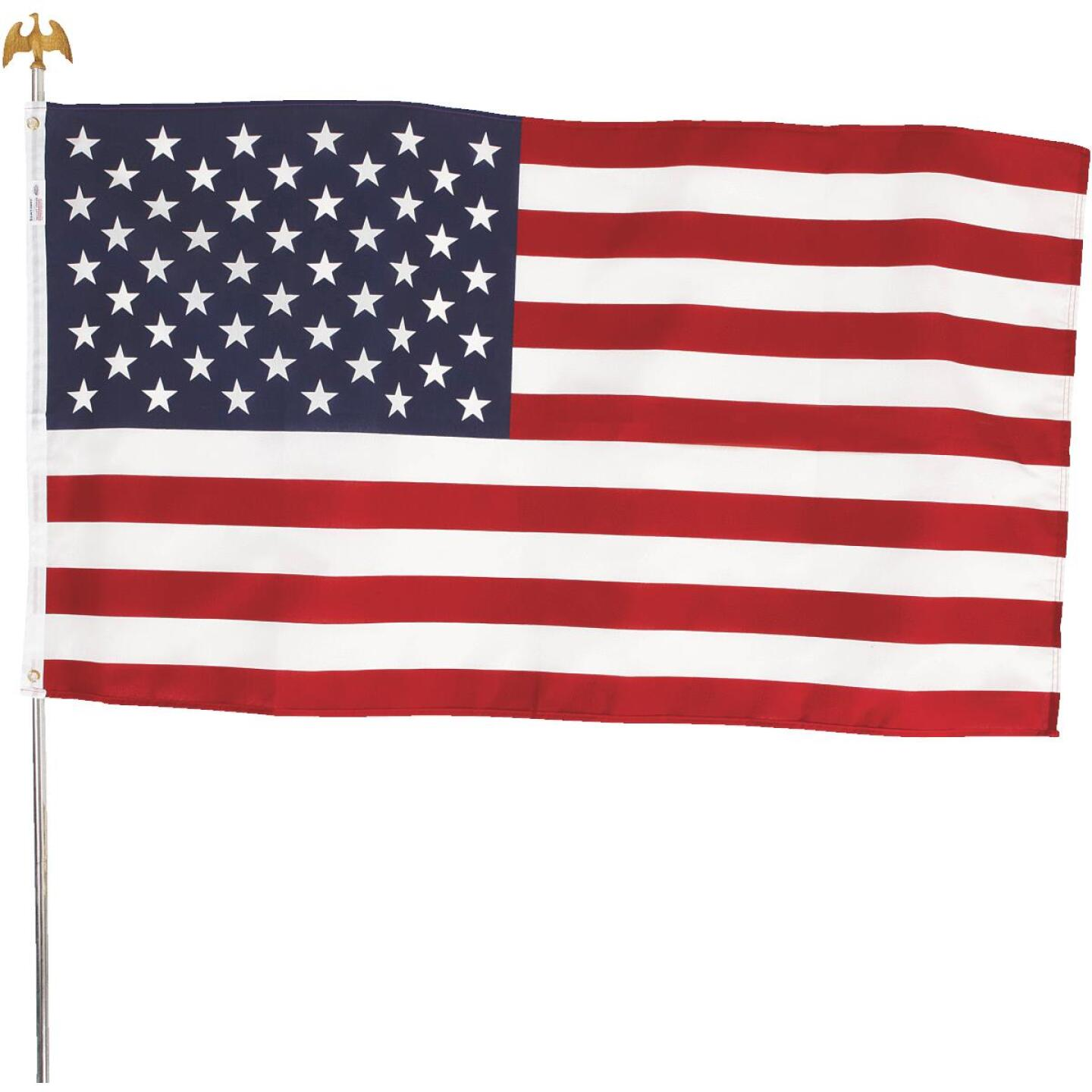Valley Forge 3 Ft. x 5 Ft. Polycotton American Flag & 6 Ft. Pole Kit Image 5
