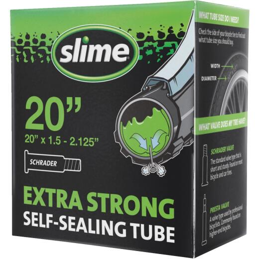 Slime Pre-Filled 20 In. Self-Sealing Bicycle Tube